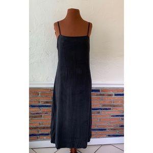 Zara black slit midi dress